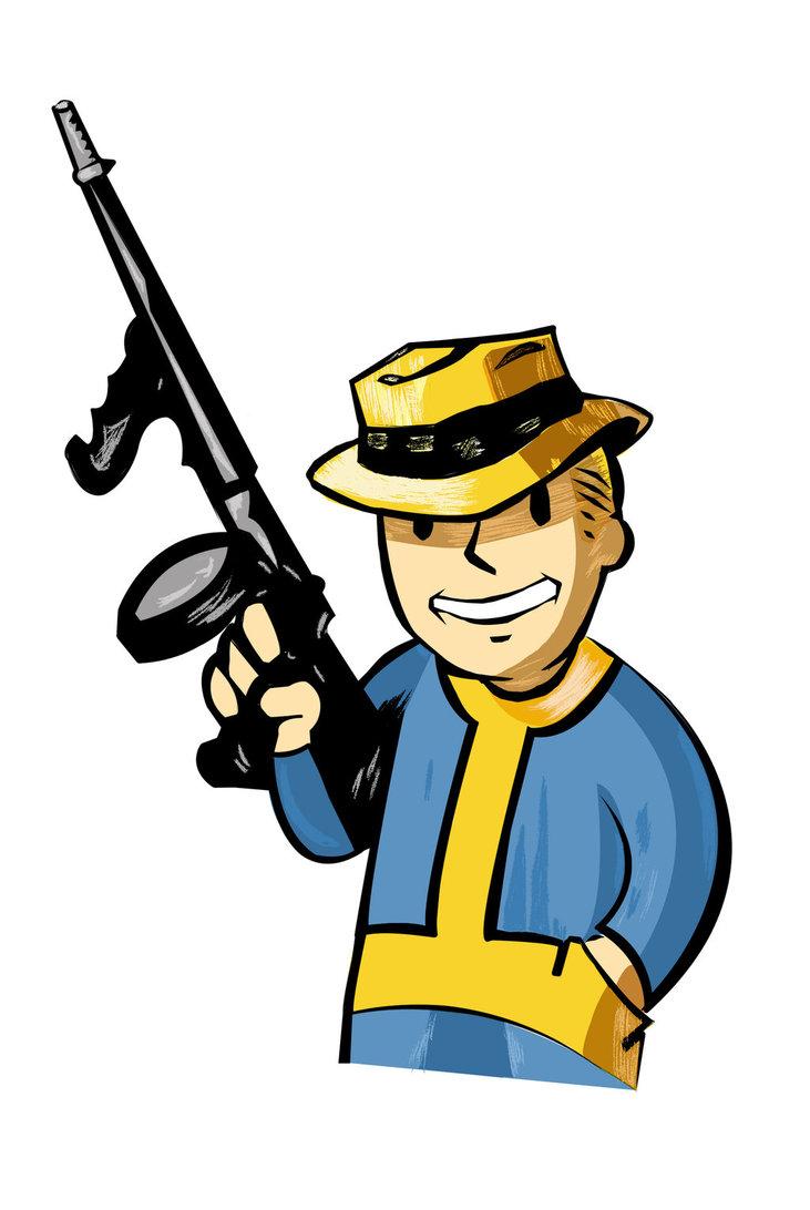 Fallout clipart pitboy Ganster pipboy Amerguin Fallout Amerguin