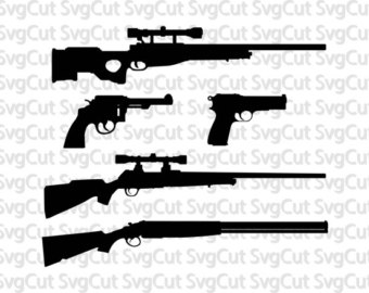 Rifle clipart pump shotgun Cut Guns Digital Etsy Guns