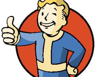 Fallout clipart vault tec Maschine Etsy tec Up Logo