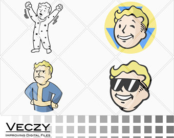 Fallout clipart vault tec Svg svg boy Fallout svg