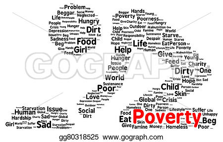Famine clipart hunger Poverty Stock Illustration shape Illustration