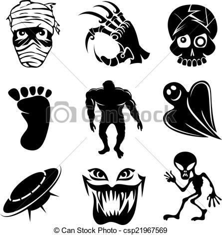 Ghostly clipart mortality And csp21967569 Art Set alien