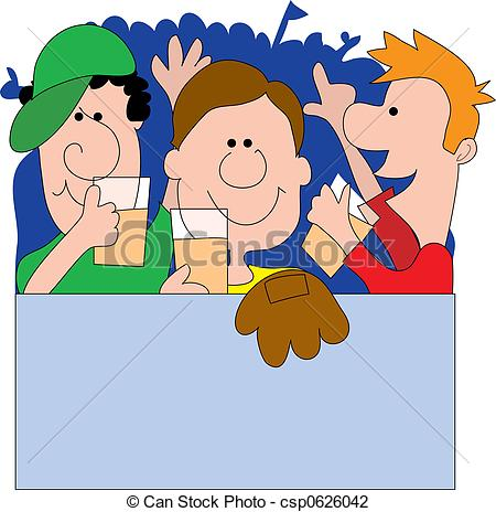 Fans clipart crowd applause Clipart outdoor yelling an Sports