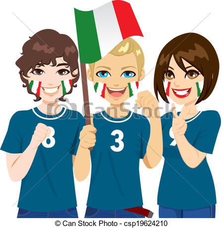 Supporters clipart politician speech Fans Clip Soccer Vector Soccer