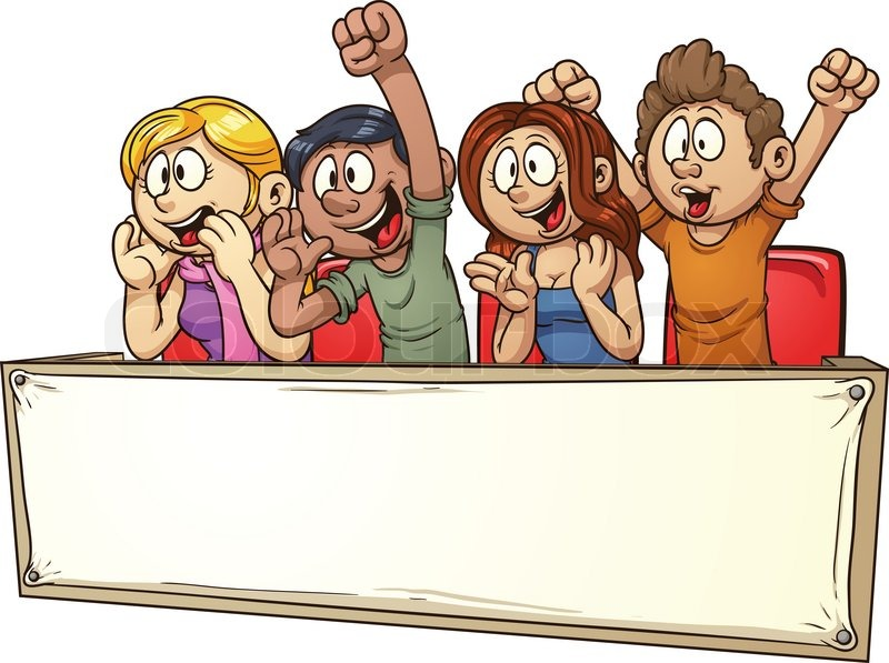 Crowd clipart drawing Art Cheering – Art Fans