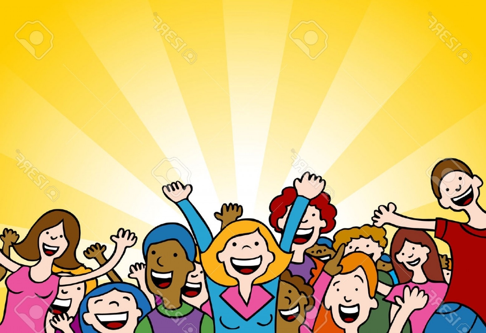 Fans clipart audience applause Crowd Cheering collection clipart clipart
