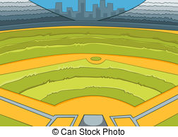 Fans clipart baseball stadium Stadium royalty Baseball 335 Stadium
