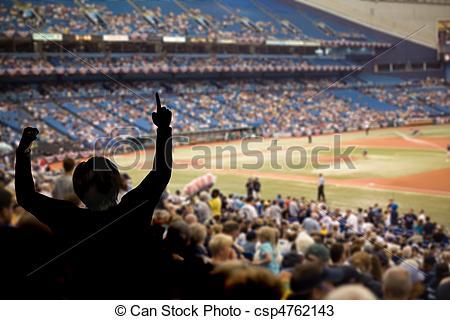 Fans clipart baseball stadium Photos  team Baseball celebrating