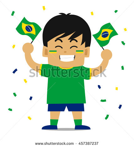Fans clipart brazilian Brazil collection Brazil of cheering