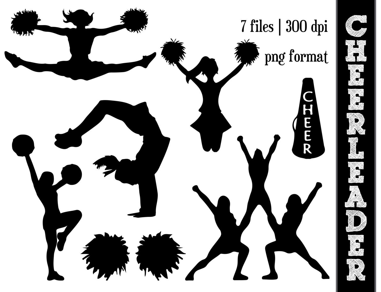 Club clipart cheer dance Art Image Cheer Silhouettes Silhouette