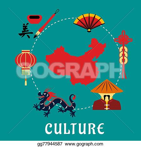 Lantern clipart chinese culture Icons EPS culture with Art