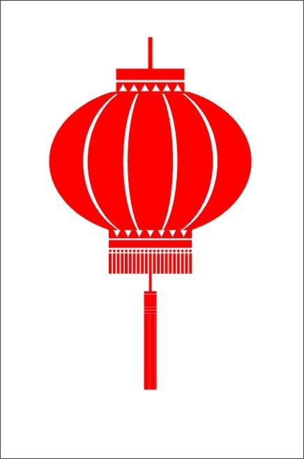 Lantern clipart chinese new year decoration Fans chinese clip chinese ClipartAndScrap