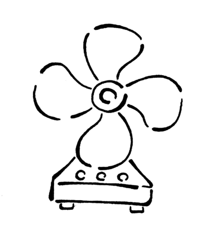 Fans clipart coloring page See printable version to page