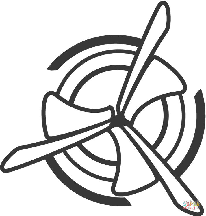 Fans clipart coloring page Fan and air the Fan