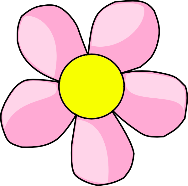 Pink clipart yellow flower Clipart Images Panda Clipart Fan