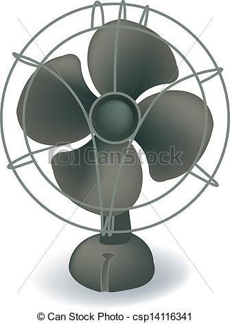 Fans clipart electri Illustration Retro Vector fan