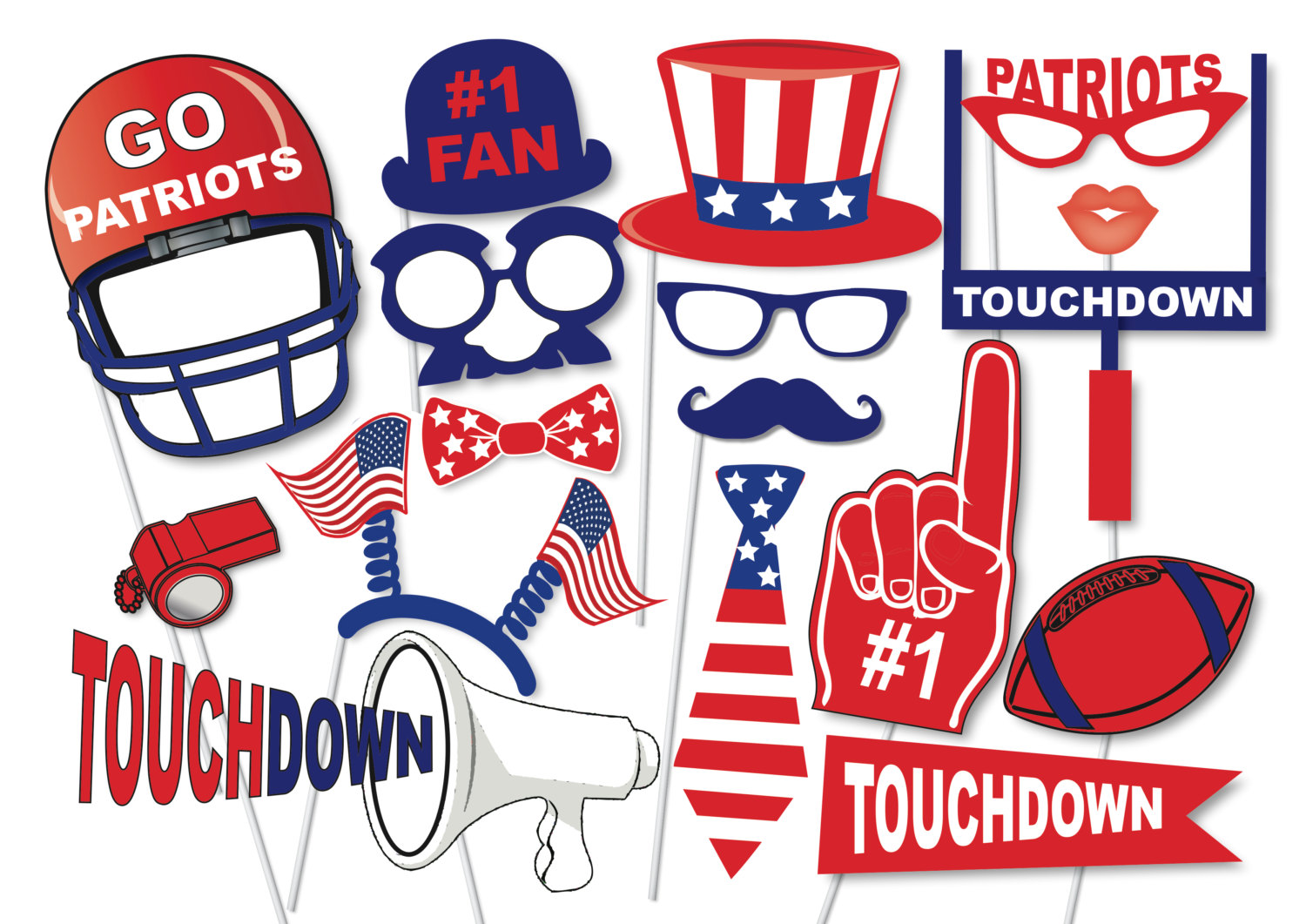 Fans clipart football party Party Etsy photo Patriots crowd