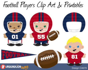 Fans clipart football party / Players Decorations Art &