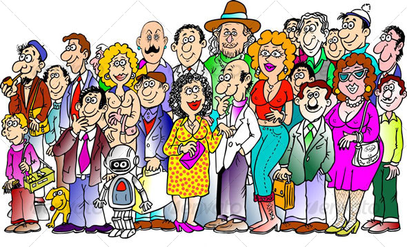 Crowd clipart person art Cheering Crowd Cartoon cliparts Clipart