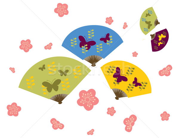 Fans clipart japanese cherry blossom Blossom Download to cherry Lau