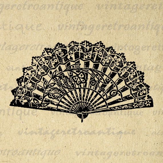 Fans clipart oriental 1405 Chinese Chinese Print Png