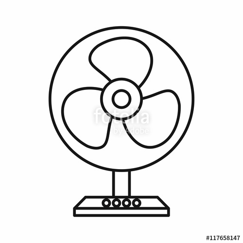 Fans clipart outline Style in  isolated on