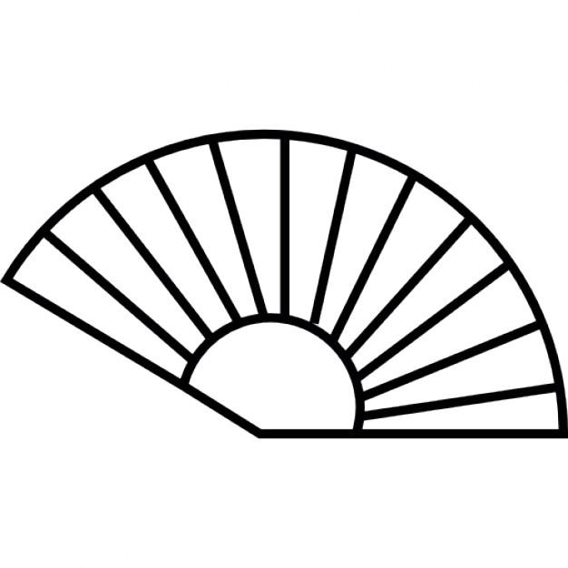 Fans clipart outline Fan Outline interface Vectors symbol