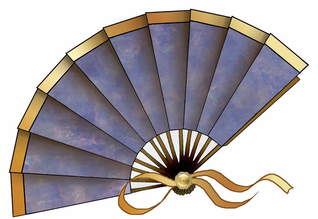 Fans clipart printable Purple decoupage crafts ArtbyJean of