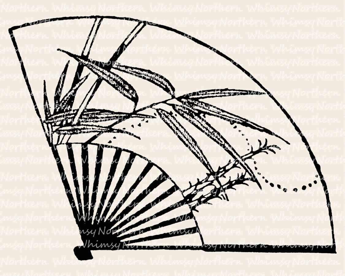 Fans clipart printable Clipart Bamboo 1899 Japanese Fan