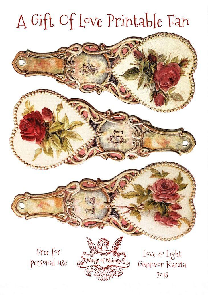 Fans clipart printable Victorian best Pinterest Art~Fans Free
