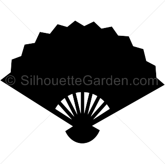 Fans clipart silhouette Silhouette Silhouette Fan