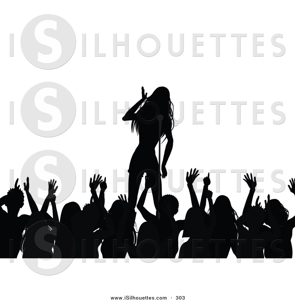 Fans clipart silhouette Stock Singers Designs of Silhouette