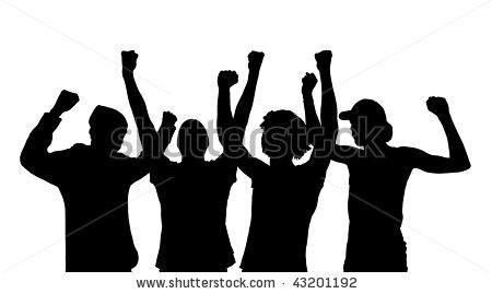 Fans clipart silhouette Cheering Fans Download Clip Cheering