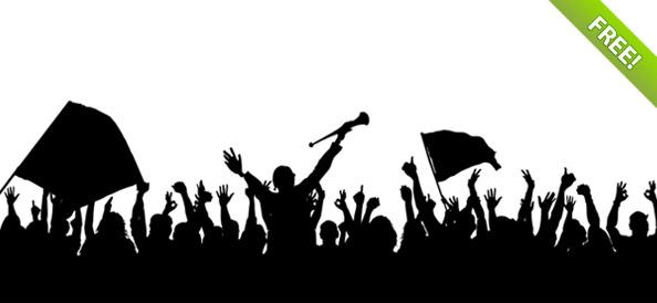 Fans clipart silhouette Clipart silhouette clipart crowd crowd