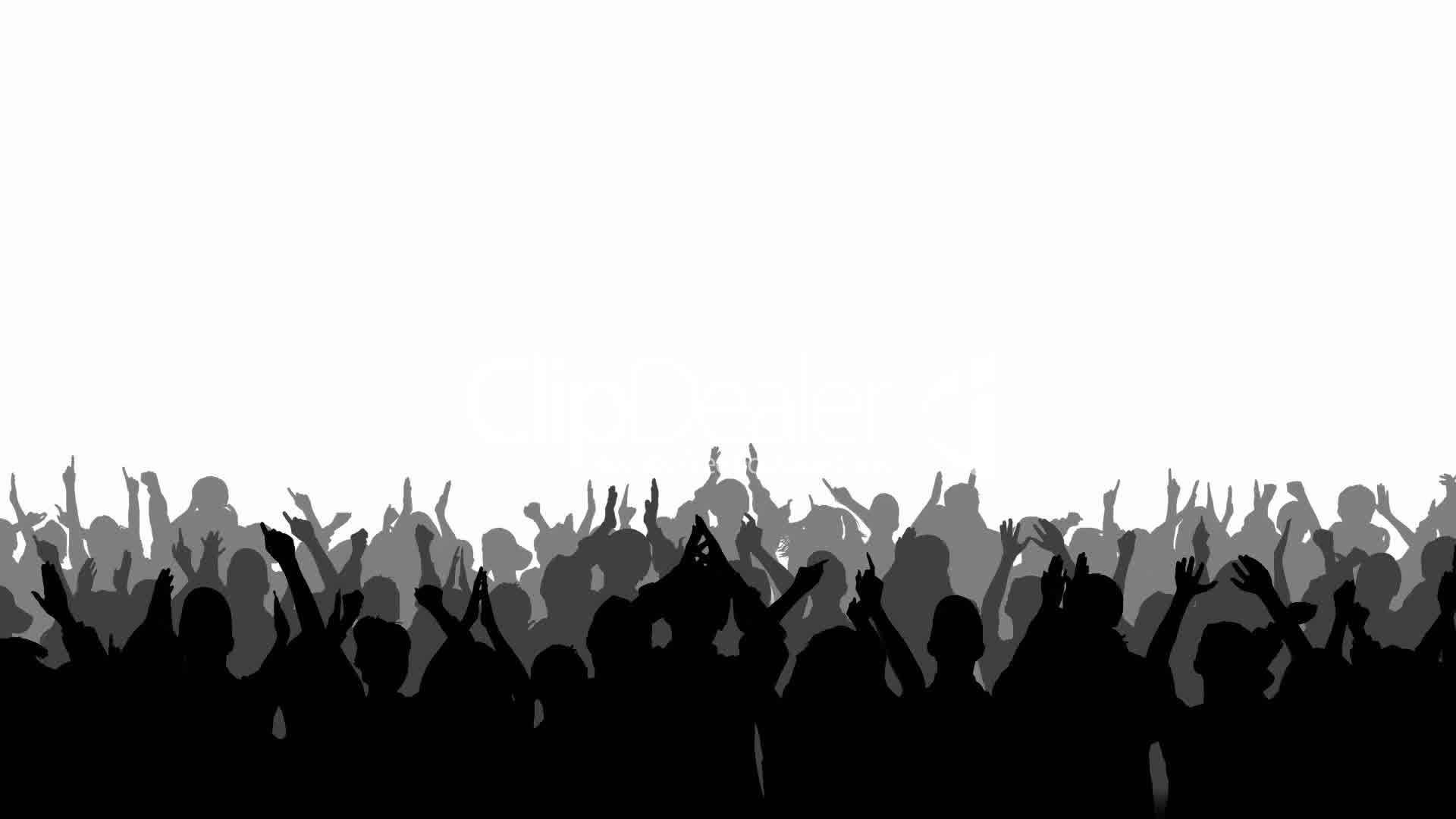 Fans clipart silhouette 78980 Cliparts Concert Cliparts Fans