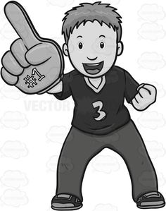 Fans clipart spectator Sports Sign Clipart Looking Hand