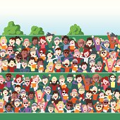 Stands clipart sport crowd Outdoor 139  in Vector