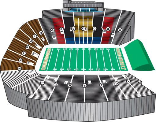 Stadium clipart stadium seat Seating Vanderbilt Official Athletic Chart