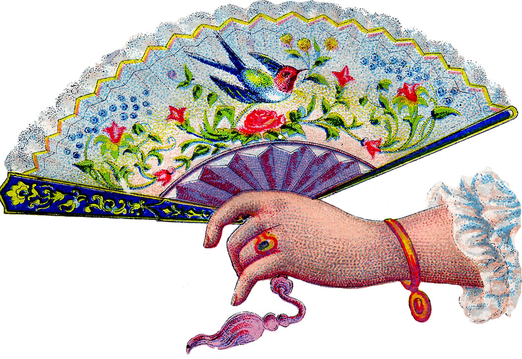 Fans clipart victorian – Graphics Victorian Hand with