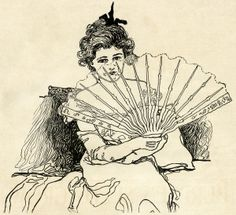Fans clipart victorian Clip clothes ladies fashion woman