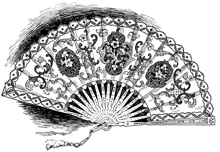 Fans clipart victorian Fan Vintage Download Fan Clipart