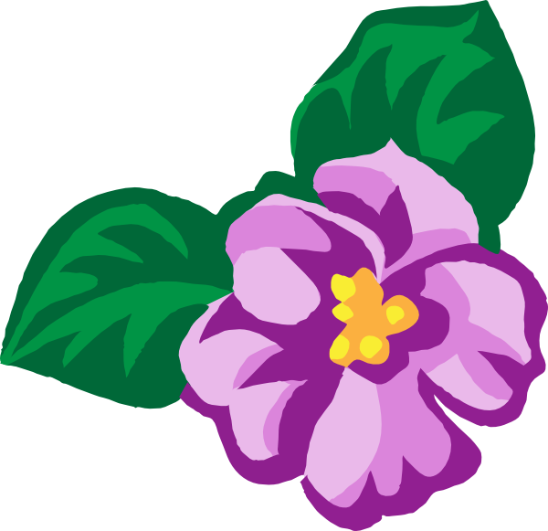 Purple Rose clipart violet #3