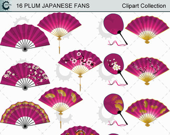 Fans clipart violet Plum Collection Coloured Etsy clipart