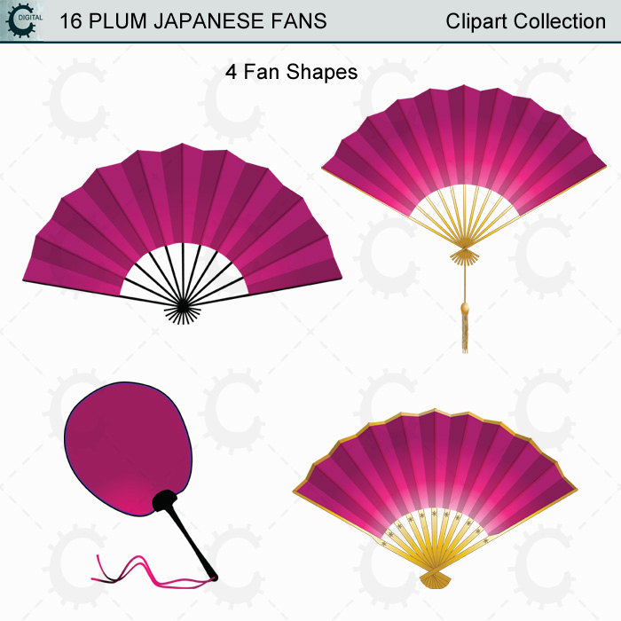 Fans clipart violet From This Plum is Clipart