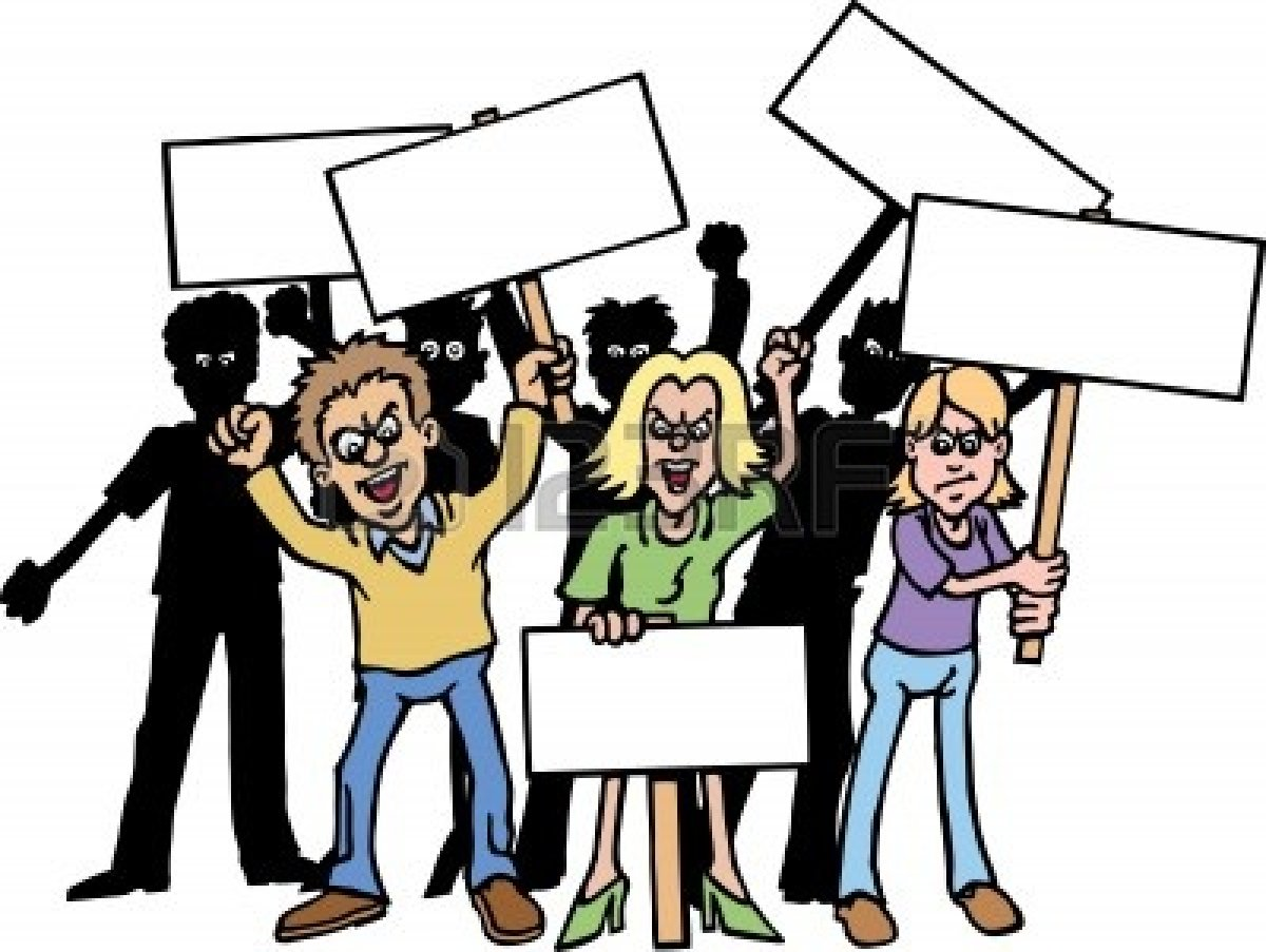 Riot clipart angry crowd #11