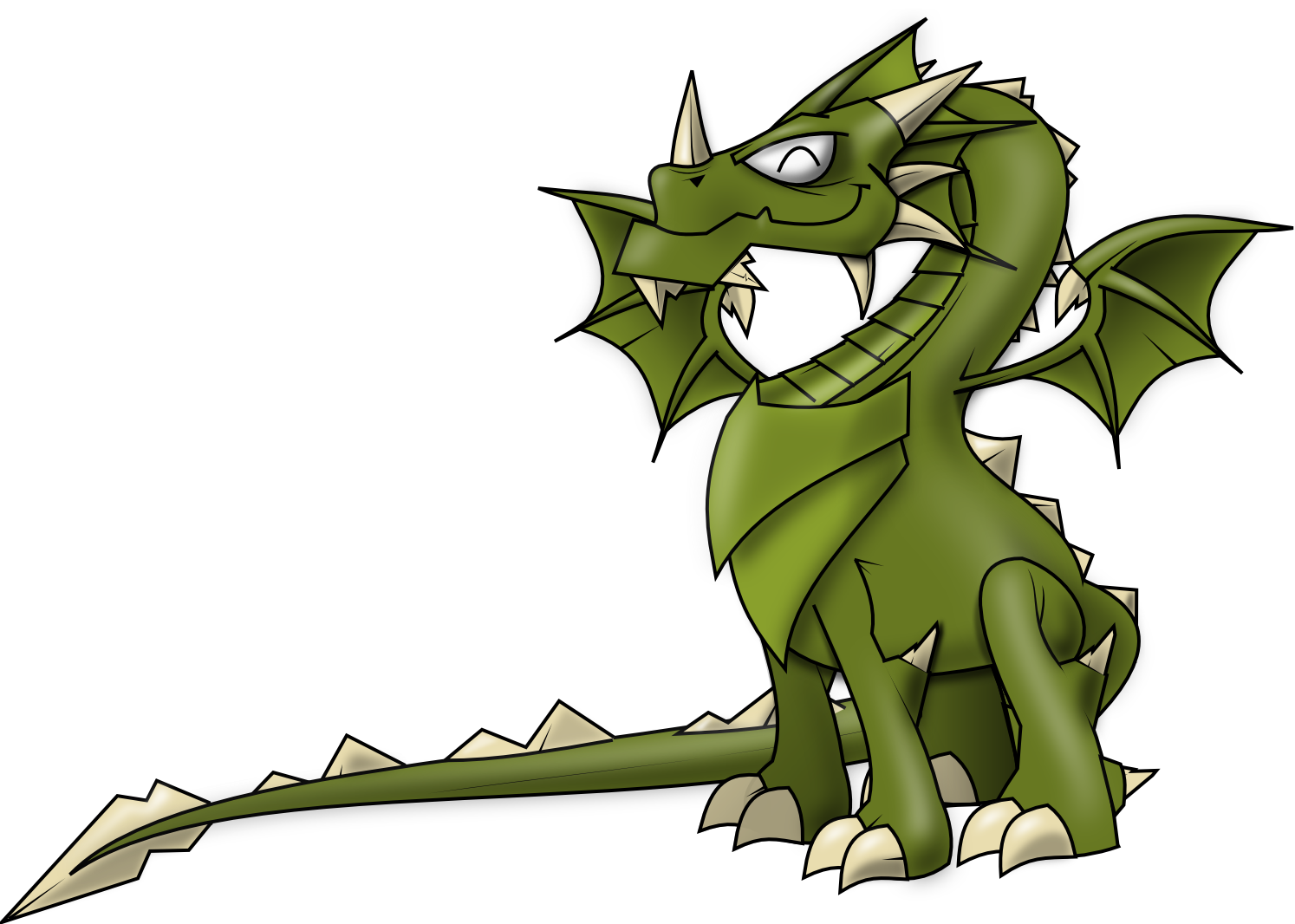 Little Dragon clipart public domain Clipart and Cliparts Others Green