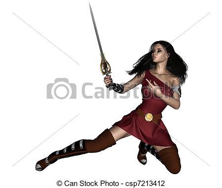 Fantasy clipart barbarian Swordswoman Fantasy Fantasy Art dark
