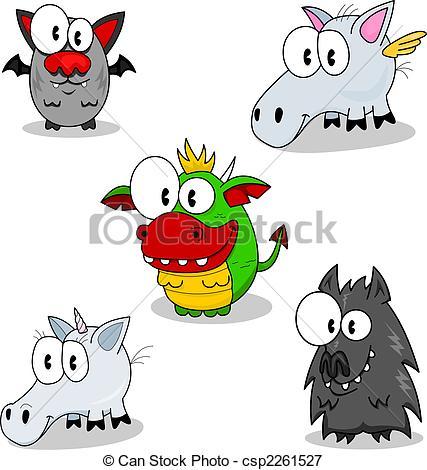 Fantasy clipart cartoon Some csp2261527 Creatures Illustration of