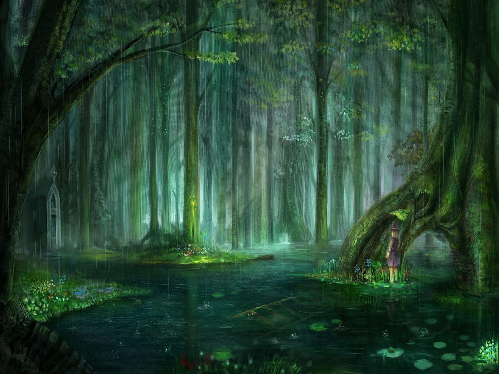 Fantasy clipart enchanted tree Wallpaper Fantasy Pinterest  Forest