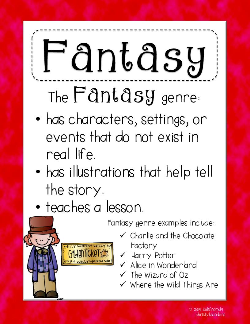 Fantasy clipart fantasy genre Posters Rainbow Tes Grade ELA